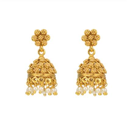 12871 Antique Jhumki with gold plating
