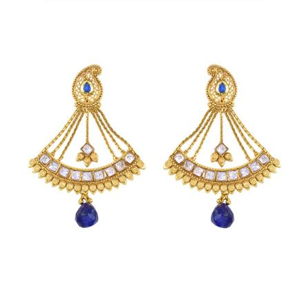 12874 Antique Long Earring with gold plating