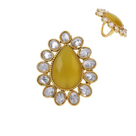12880 Antique Classic Ring with gold plating