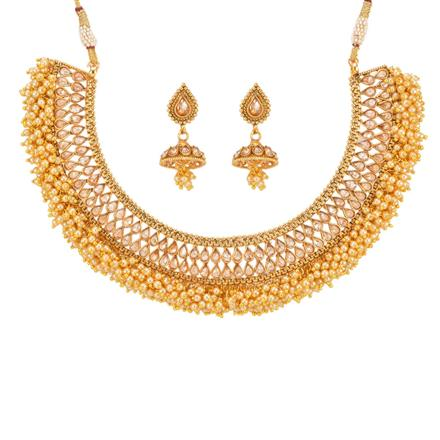 12881 Antique Classic Necklace with gold plating