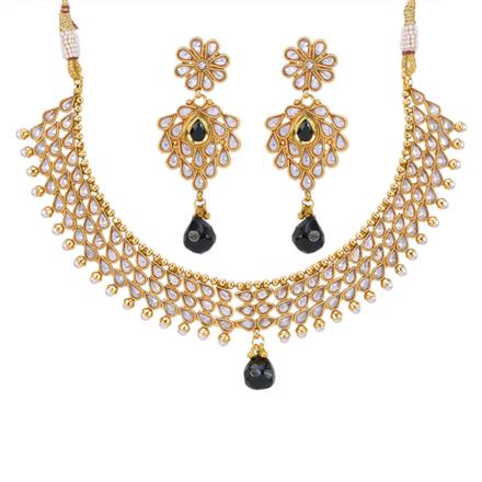 12883 Antique Classic Necklace with gold plating