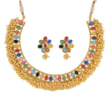 12884 Antique Classic Necklace with gold plating