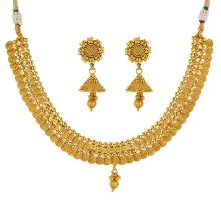 12913 Antique Plain Gold Necklace