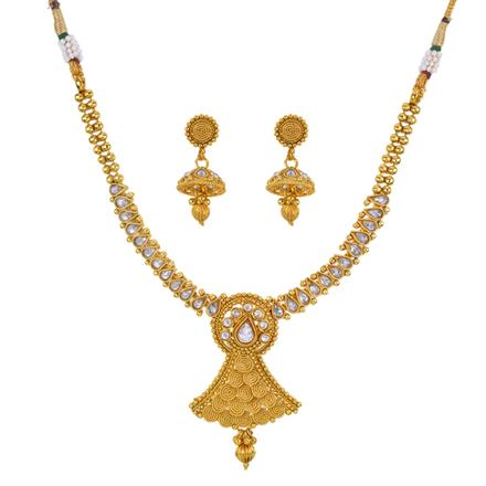 12914 Antique Classic Necklace with gold plating
