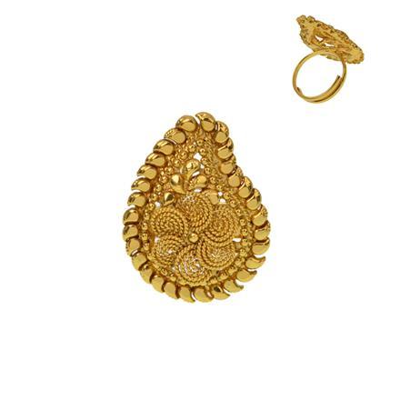 12917 Antique Plain Gold Ring