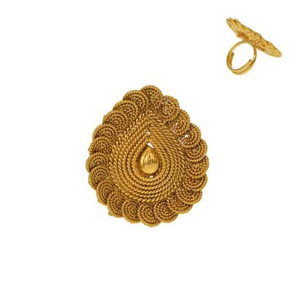 12918 Antique Plain Gold Ring