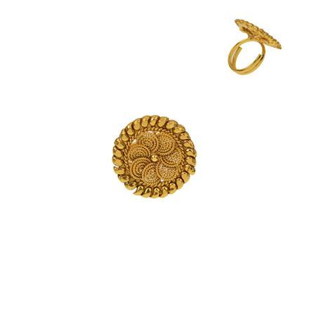 12919 Antique Plain Gold Ring