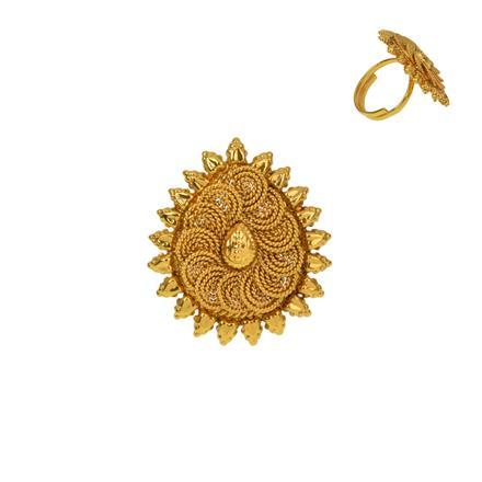 12920 Antique Plain Gold Ring