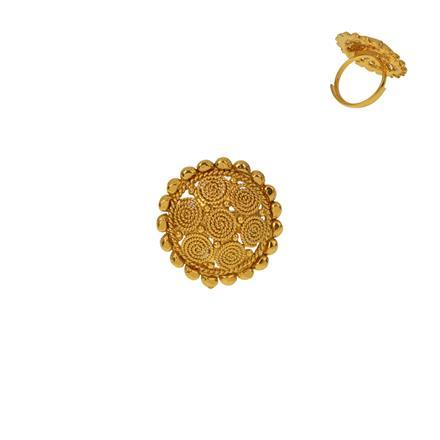 12921 Antique Plain Gold Ring