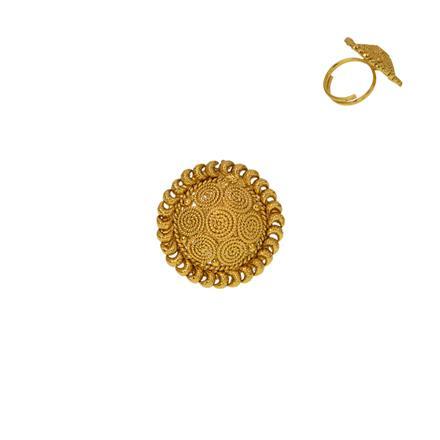 12922 Antique Plain Gold Ring