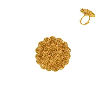 12923 Antique Plain Gold Ring