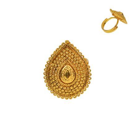 12924 Antique Plain Gold Ring