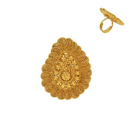 12925 Antique Plain Gold Ring
