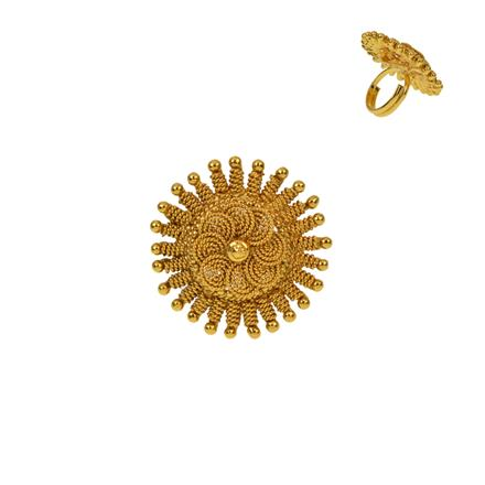 12926 Antique Plain Gold Ring