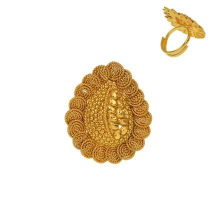 12927 Antique Plain Gold Ring
