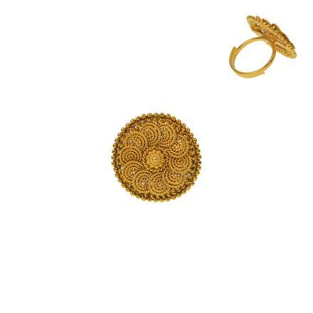 12929 Antique Plain Gold Ring