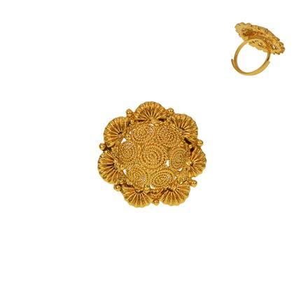 12930 Antique Plain Gold Ring