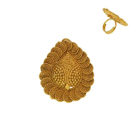 12931 Antique Plain Gold Ring