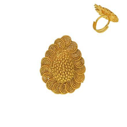 12932 Antique Plain Gold Ring