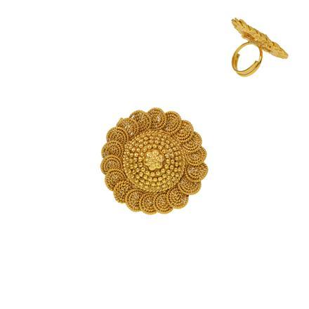 12933 Antique Plain Gold Ring
