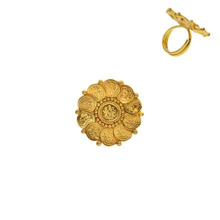 12934 Antique Plain Gold Ring