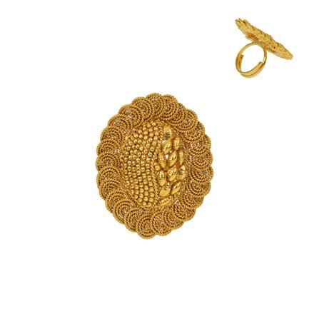 12936 Antique Plain Gold Ring