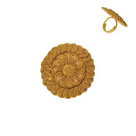 12937 Antique Plain Gold Ring