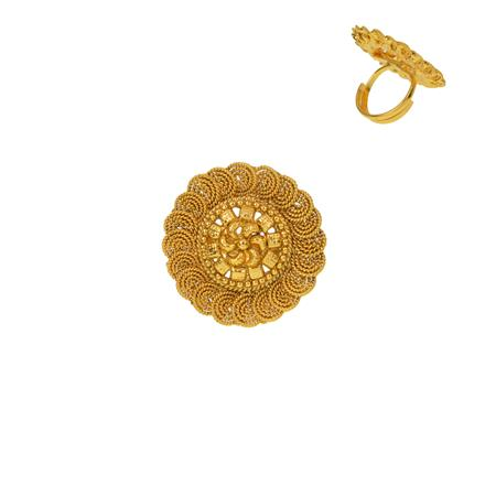 12938 Antique Plain Gold Ring