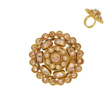 12942 Antique Classic Ring with gold plating