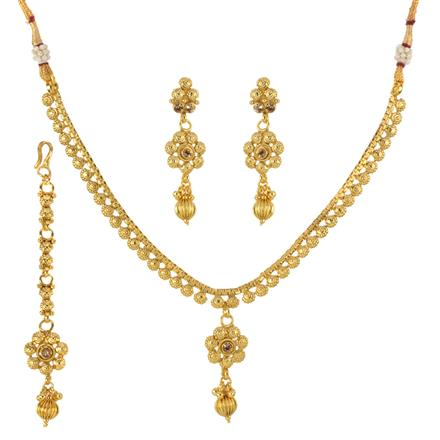 12944 Antique Delicate Necklace with gold plating