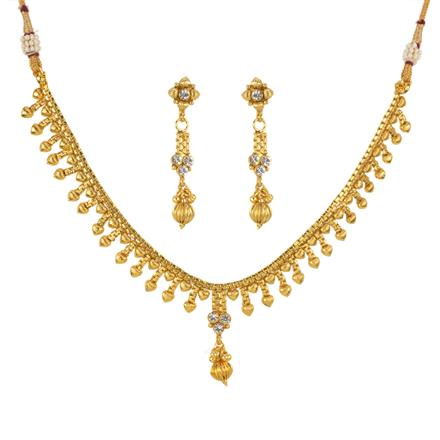 12945 Antique Delicate Necklace with gold plating
