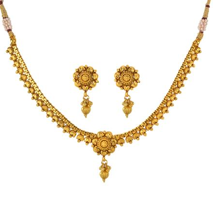 12957 Antique Delicate Necklace with gold plating