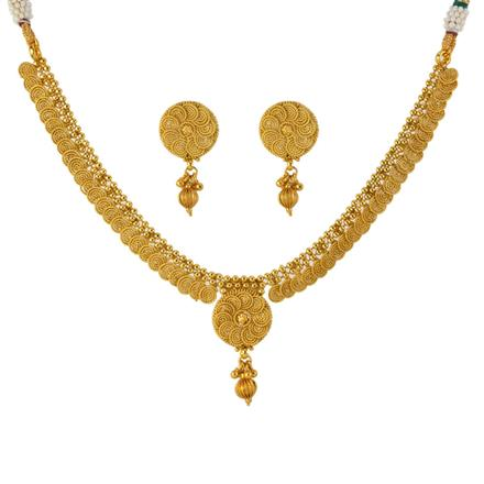 12958 Antique Delicate Necklace with gold plating