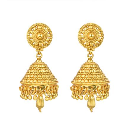 12959 Antique Jhumki with gold plating
