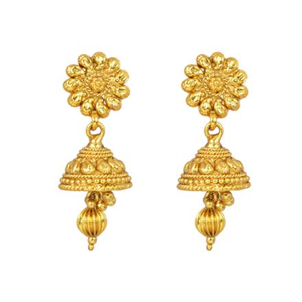 12962 Antique Jhumki with gold plating