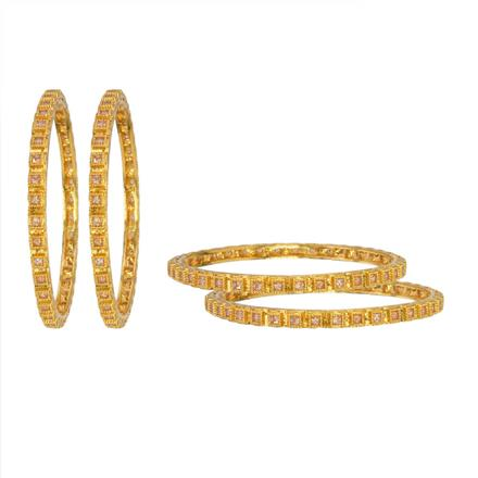 12963 Antique Classic Bangles with gold plating