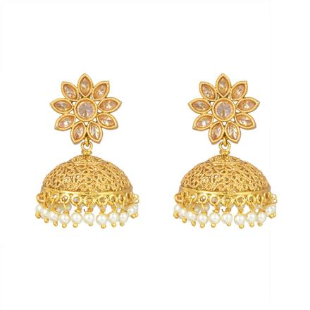 12965 Antique Jhumki with gold plating