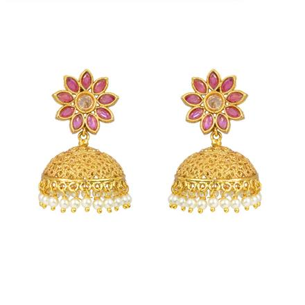 12966 Antique Jhumki with gold plating