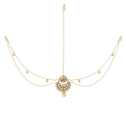 12968 Antique Chand Damini with gold plating