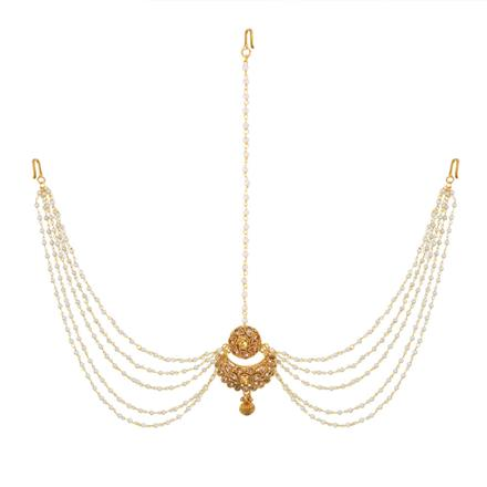 12969 Antique Chand Damini with gold plating