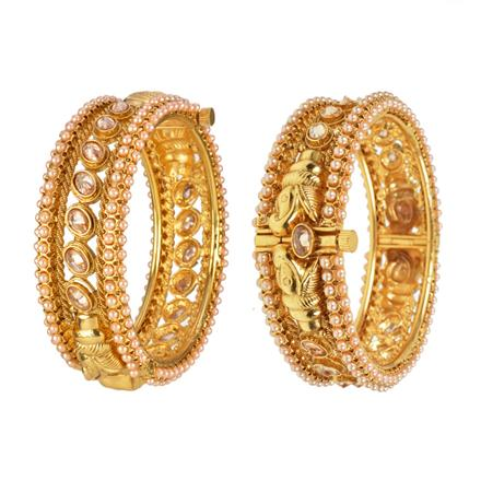 12974 Antique Openable Bangles with gold plating