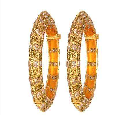 12975 Antique Openable Bangles with gold plating