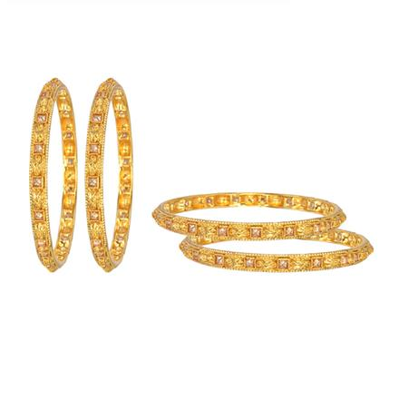 12976 Antique Classic Bangles with gold plating