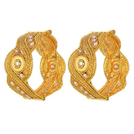 12978 Antique Openable Bangles with gold plating