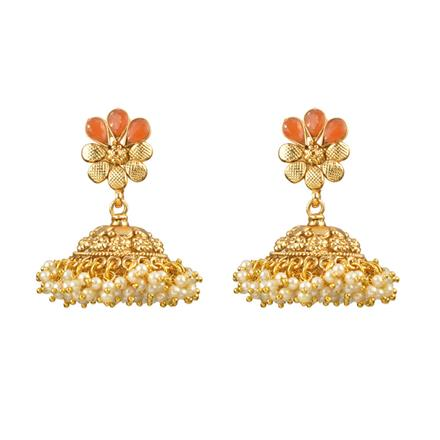12979 Antique Jhumki with gold plating
