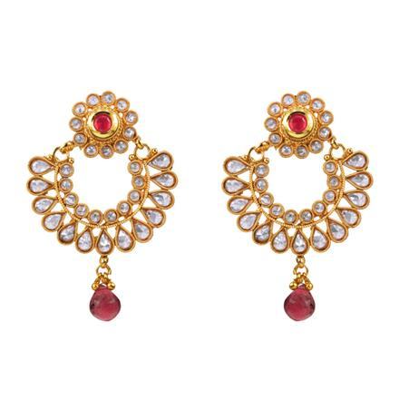 12980 Antique Chand Earring with gold plating