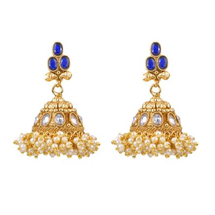 12981 Antique Jhumki with gold plating