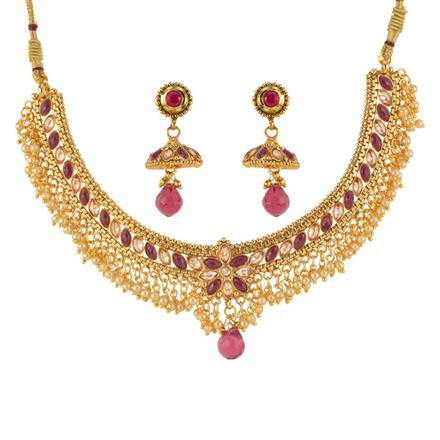 12984 Antique Classic Necklace with gold plating