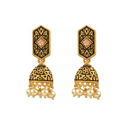 12986 Antique Delicate Earring with gold plating