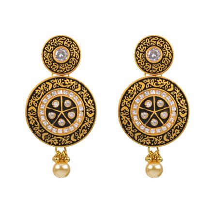 12988 Antique Classic Earring with gold plating